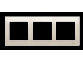 Rámček 3- násobný krémová