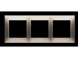 Rámček 3- násobný pre sadrokartónové krabičky zlatá matná