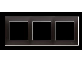 Rámček 3- násobný antracitová
