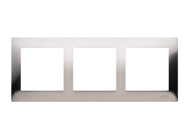 Rámček 3- násobný kovový nerez
