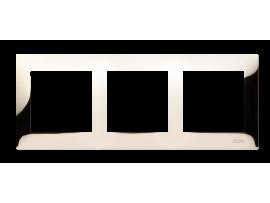 Rámček 3- násobný kovový zlatá