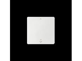 Kláves s piktogramom žalúzie pre bezdrôtový vysielač biela