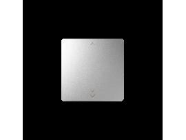 Kláves s piktogramom žalúzie pre bezdrôtový vysielač hliník