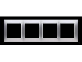 Rámček 4- násobný pre sadrokartónové krabičky strieborná matná