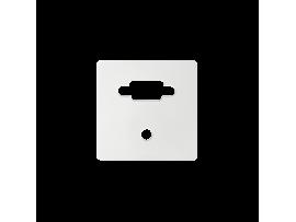 Kryt pre zásuvka VGA + mini jack biela