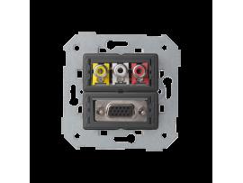 Zásuvka VGA + 3 RCA