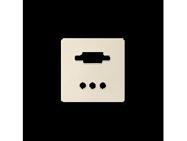 Kryt pre zásuvka VGA + 3 RCA krémová