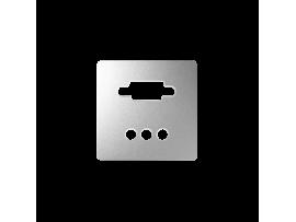 Kryt pre zásuvka VGA + 3 RCA hliník