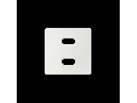 Kryt pre zásuvka 2 x USB biela