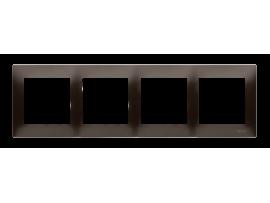 Rámček 4- násobný hnedá matná