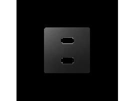 Kryt pre zásuvka 2 x USB grafit