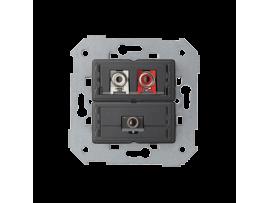 Zásuvka Mini jack + 2 RCA