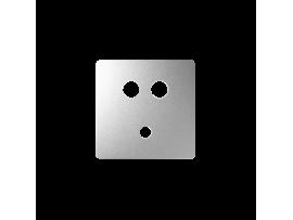 Kryt pre zásuvka Mini jack + 2 RCA hliník