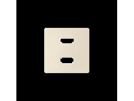 Kryt pro zásuvka USB + HDMI krémová