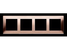 Rámček 4- násobný kovový rustikálna meď