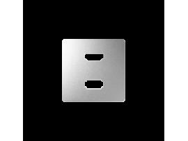Kryt pro zásuvka USB + HDMI hliník