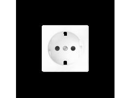 Kryt jednoduchej zásuvky s uzemnením typu Schuko biela