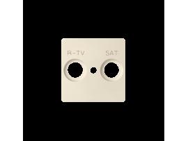 Kryt anténnej zásuvky RTV-SAT béžový