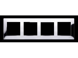 Rámček 4- násobný kovový chróm
