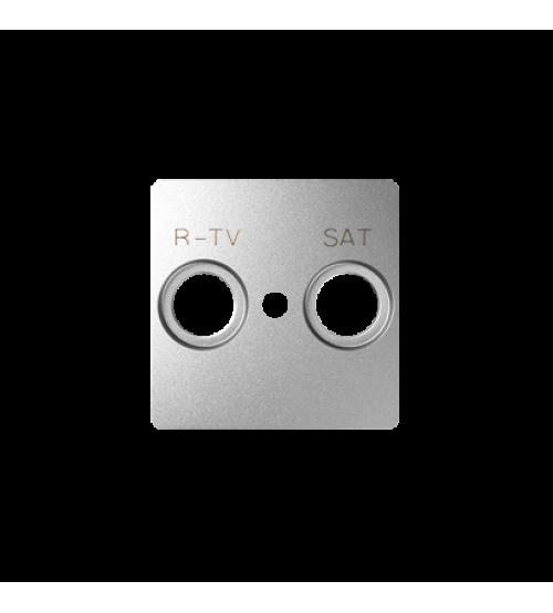 Kryt anténnej zásuvky RTV-SAT hliník