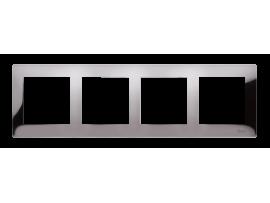 Rámček 4- násobný kovový tmavá oceľ