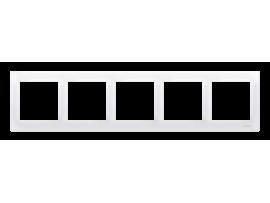 Rámček 5- násobný biela