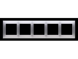 Rámček 5 - násobný pre sadrokartónové krabičky strieborná matná