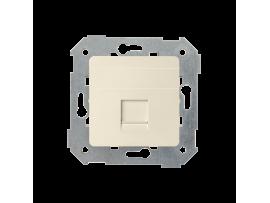 Teleinformatický kryt zásuviek pre Keystone jednotná plocha béžový