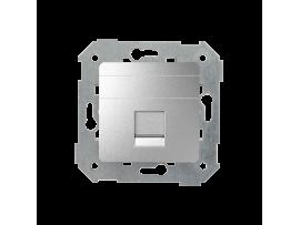 Teleinformatický kryt zásuviek pre Keystone jednotná plocha hliník