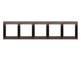 Rámček 5 - násobný pre sadrokartónové krabičky hnedá matná