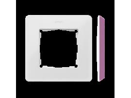Rámček 1- násobný biela ružová