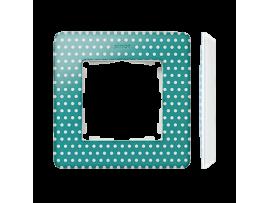 Rámček 1- násobný akvamarín biela
