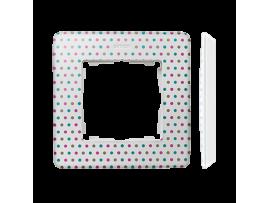Rámček 1- násobný biela viacfarebný
