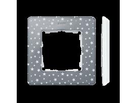 Rámček 1- násobný biela studená šedá