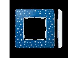 Rámček 1- násobný biela indigo