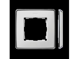 Rámček 1- násobný biela chróm