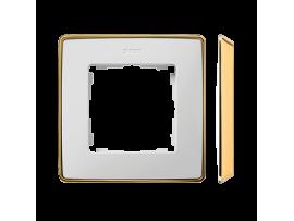 Rámček 1- násobný biela zlatá