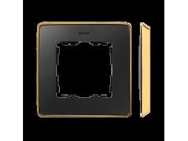Rámček 1- násobný grafit zlatá