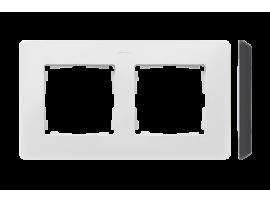 Rámček 2- násobný biela čierny