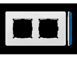 Rámček 2- násobný biela indigo