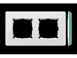 Rámček 2- násobný akvamarín biela