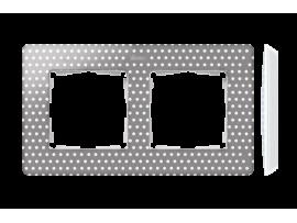 Rámček 2- násobný biela teplá šedá
