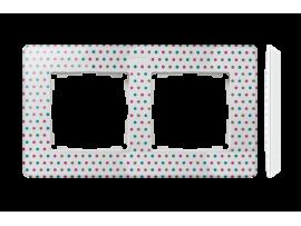 Rámček 2- násobný biela viacfarebný