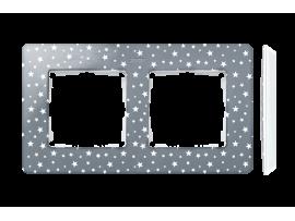 Rámček 2- násobný biela studená šedá