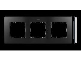 Rámček 3- násobný biela grafit