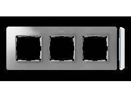 Rámček 3- násobný hliník biela