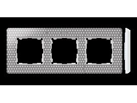 Rámček 3- násobný biela teplá šedá