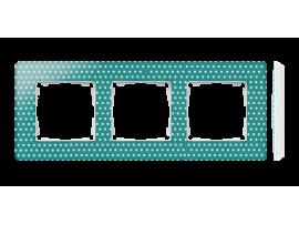 Rámček 3- násobný akvamarín biela