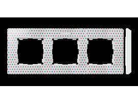 Rámček 3- násobný biela viacfarebný