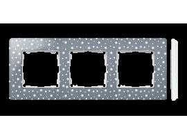 Rámček 3- násobný biela studená šedá